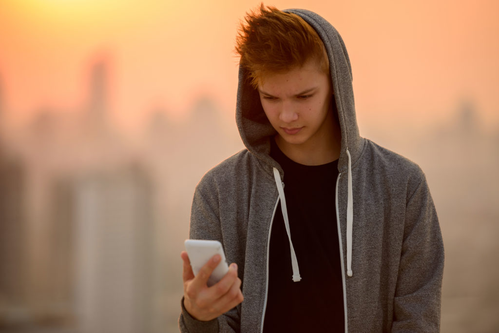 Boy on Cellphone